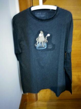 camiseta manga larga kukuxumuxu talla m grande