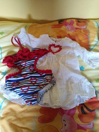 trikini talla 5 y vestido talla 4 dolce petit