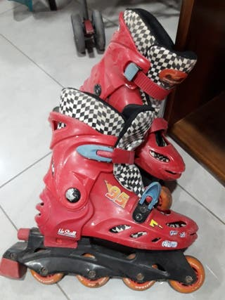 patines ajustables cars rojos