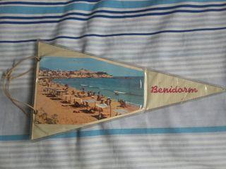 Antiguo Banderín plastificado de Benidorn años 60