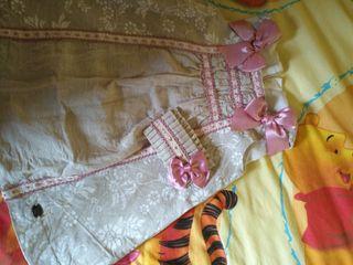 vestido dolce petit talla 4 con tocado a juego