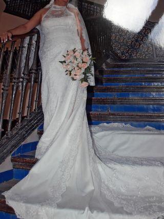 vestido de novia talla 44 de segunda mano en sevilla en wallapop