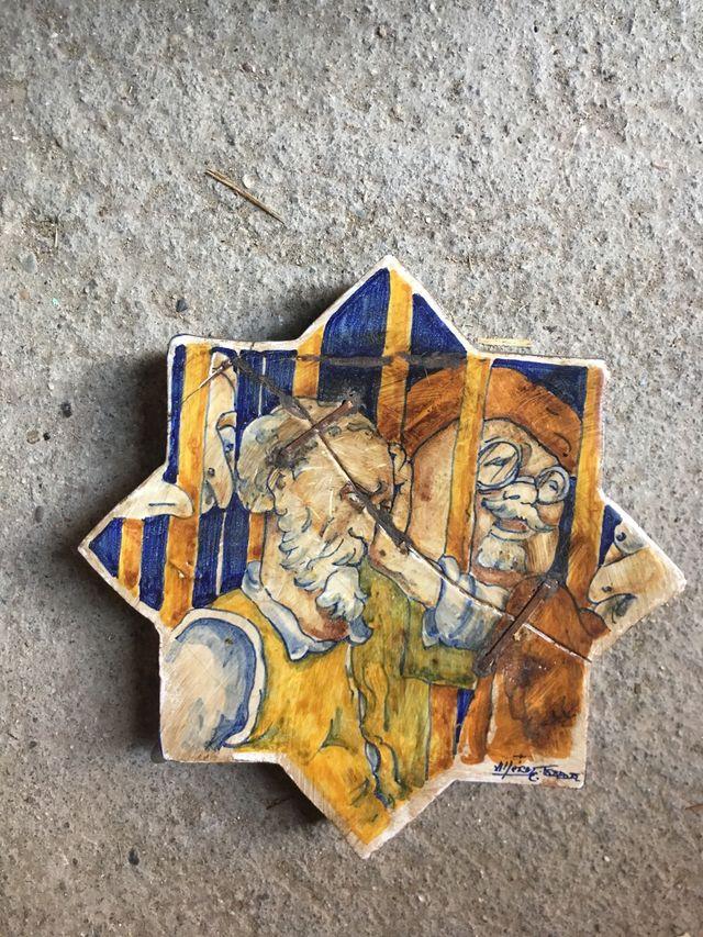 Azulejo de cerámica de Talavera