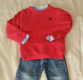 Conjunto Pantalón+camisa+jersey. Talla 3