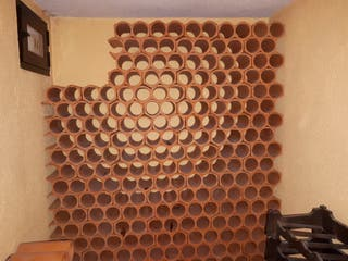 botellero cerámico