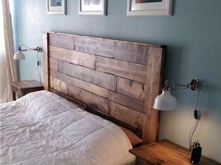 cabeceros de cama rústicos