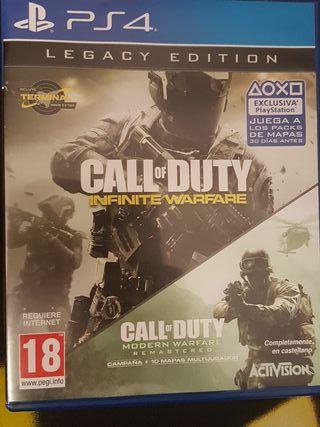 JUEGO DE PS4 infinite warfare