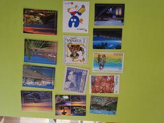 Lote de 13 postales de España.
