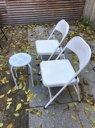 Foldable Chairs and Stool