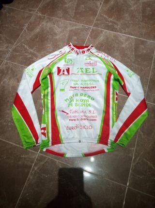 maillot manga larga bicicleta Roger