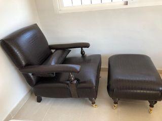 Magnifico sillón con reposapies