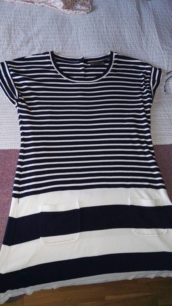 Vestido de algodón de rayas