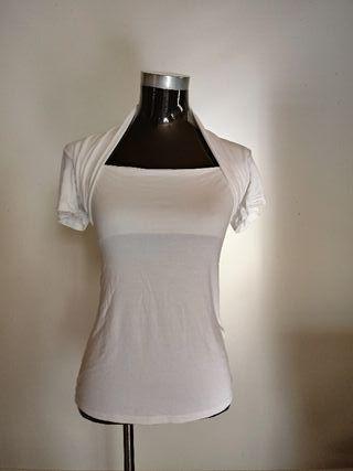 Camiseta de viscosa elastica