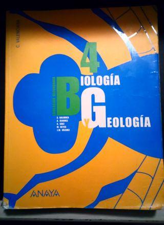 Libro Biología y Geología 4. Anaya