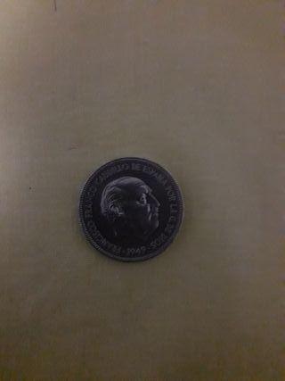 moneda 5 peseta 1949