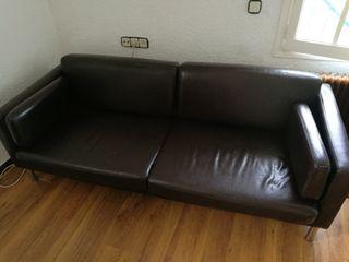 Sofá de piel Ikea de segunda mano en WALLAPOP