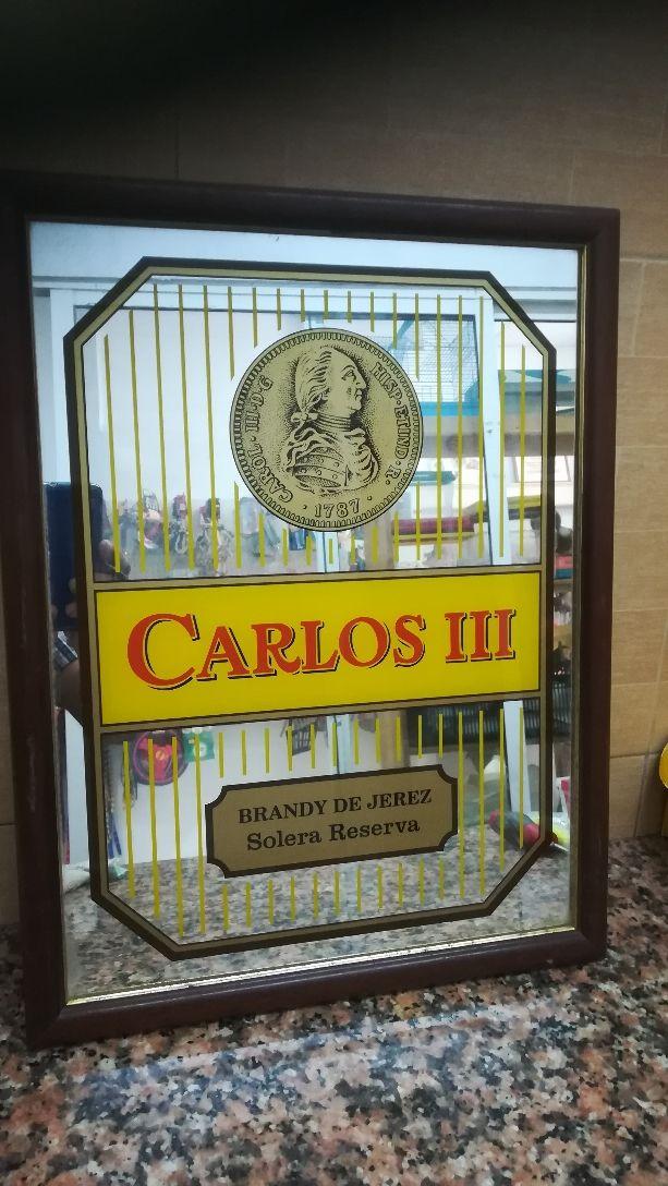Cuadro espejado brandy Carlos III