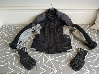 Chaqueta y guantes para moto Invierno