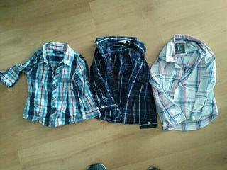 lote 3 camisas niño 2 - 3 años.