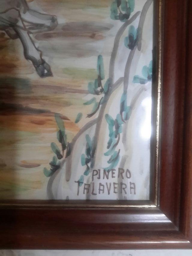 Antiguo cuadro de ceramica de Talavera