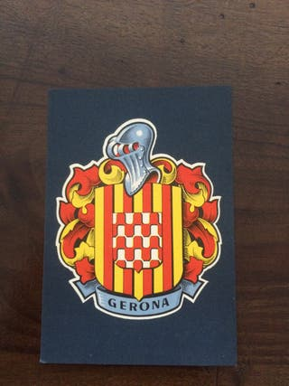 "Postal anys 50-60 Escut girona ""Gerona"""