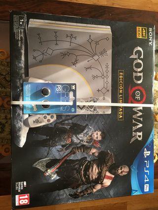 PS4 PRO Edicion God of War + juego + mando