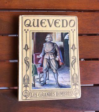 QUEVEDO LOS GRANDES HOMBRES LIBRO ANTIGUO
