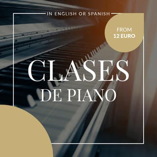 Clases de Piano en Ingles o Castellano