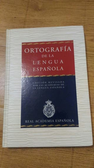 Libros de ortografía y lengua española.