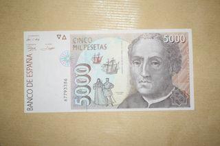 Billete 5000 pesetas 1992 SC