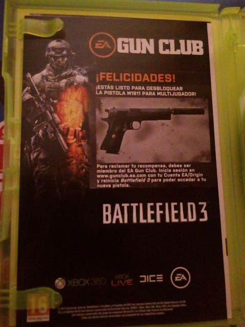 Battlefield 3 (2 discos) XBOX360 EA PAL España de segunda mano por 7