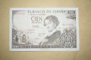 Billete 100 pesetas 1965 Sin Serie