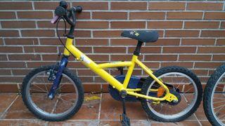 Bicicleta de niñ@ de 16 pulgadas