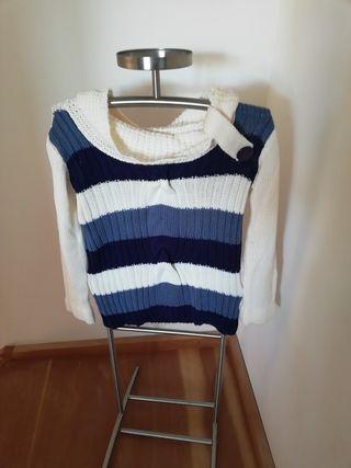 pull bleu et blanc