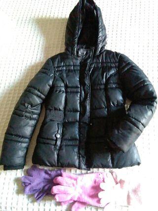 cazadora abrigo+ 3 guantes