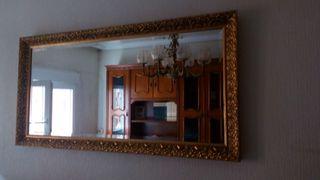 Espejo pared labrado