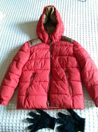 cazadora abrigo + guantes