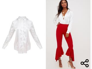 White satin shirt