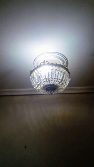 Lámpara techo cristales