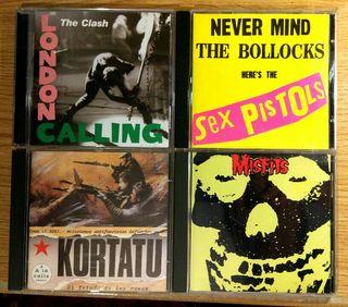 Cd's Misfits, kortatu, Sex pistols.