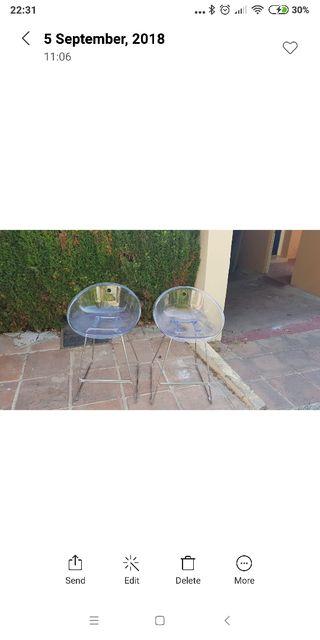 2 sillas perspex