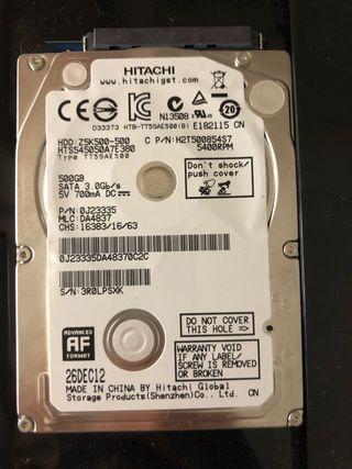 "Disco duro hitachi 500 gb 2,5"""