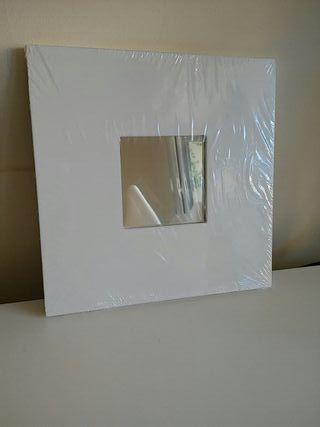 Espejo blanco ikea de segunda mano en madrid en wallapop - Espejo hemnes blanco ...