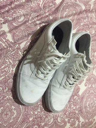 Zapatillas vans piel blanca talla 41