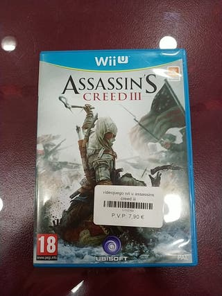 Juego wii U Assassins Creed III.