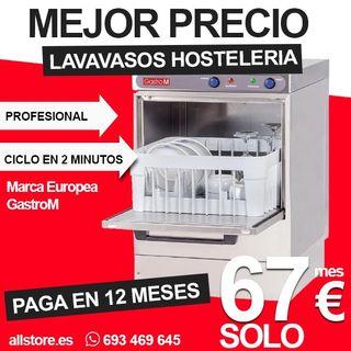 Lavavasos hostelería en 12 plazos de 67€