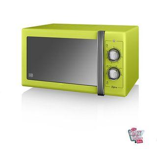 Microondas manual retro color verde pistacho