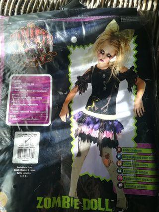 disfraz Halloween muñeca zombie