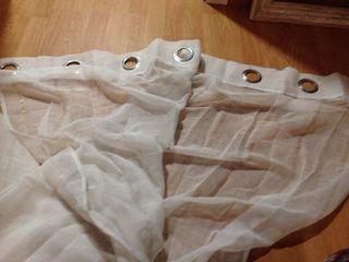 cortinas(2) blancas 140*240