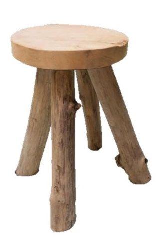 Taburete vintage madera teka